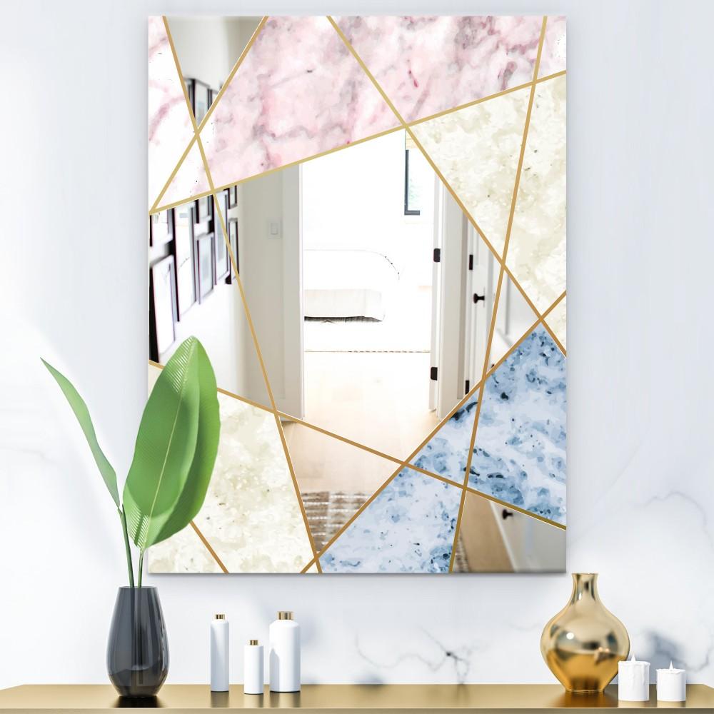 Marbled Diamond 3 - Mid Century Modern Cottage Mirror