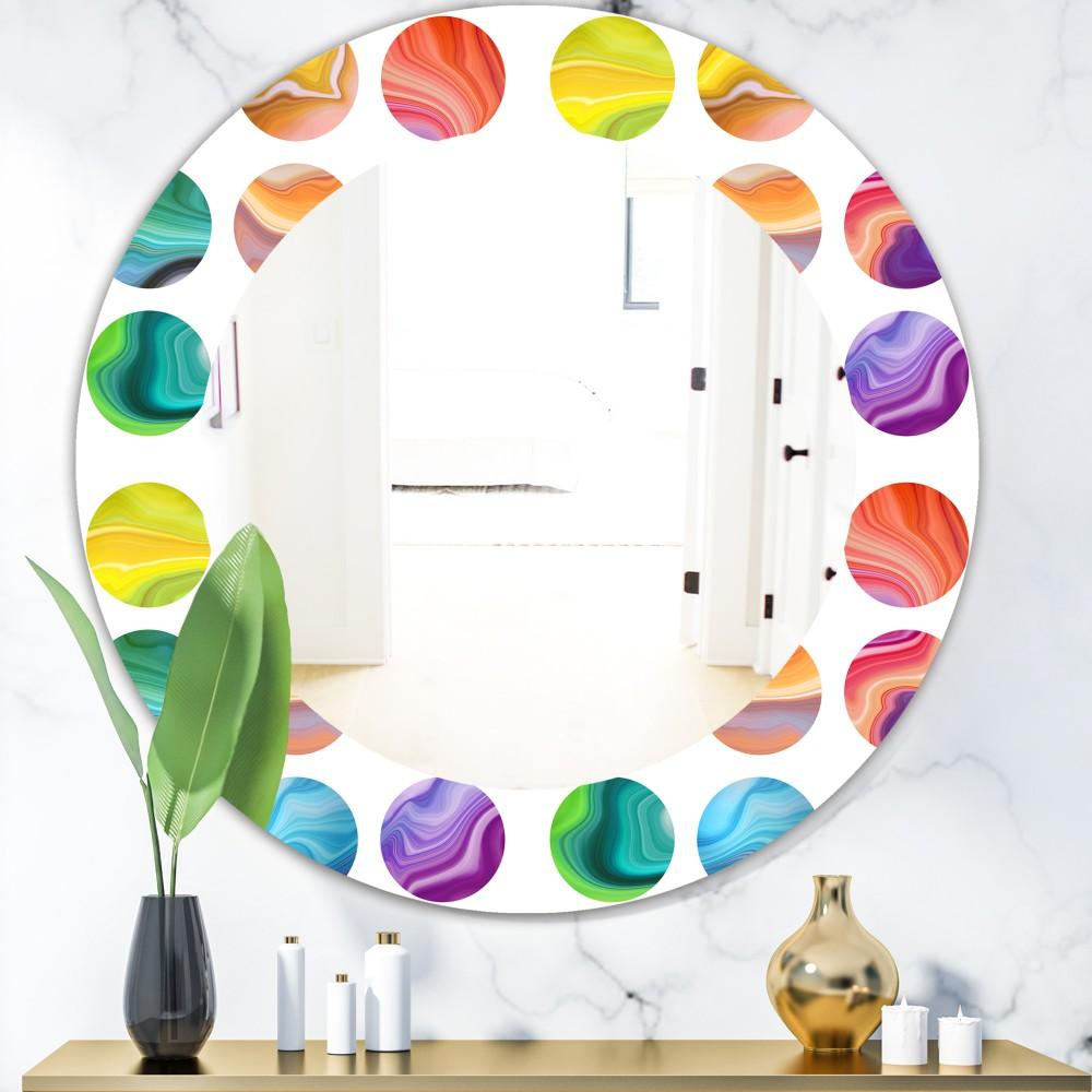 Circular Dance 1 - Modern Round Mirror