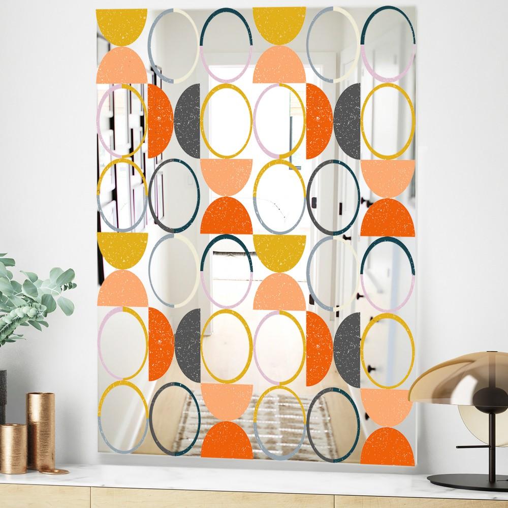 Circular Rhythm 2 - Mid Century Modern Mirror