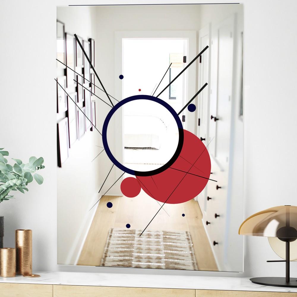 Circular Web 2 - Mid Century Modern Mirror