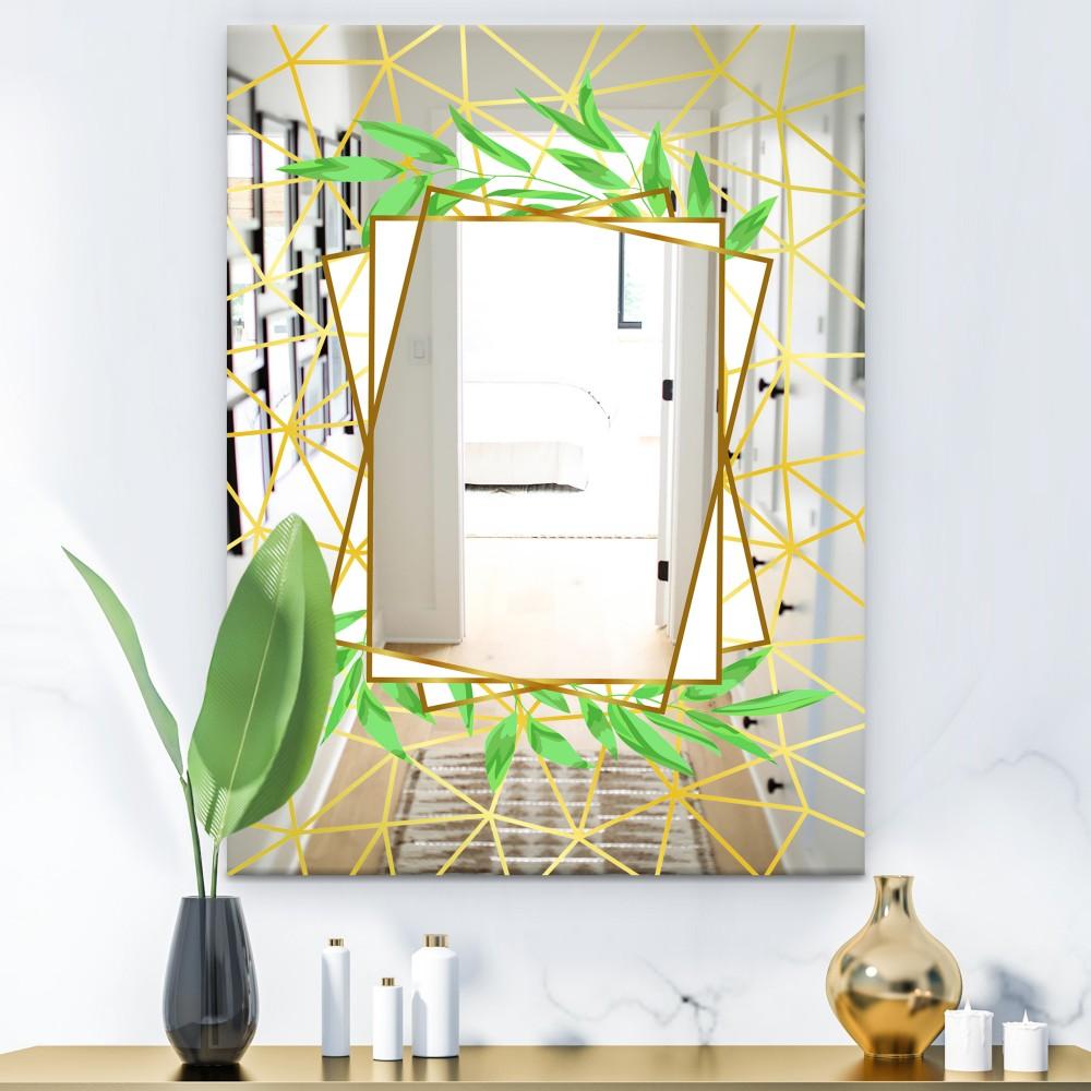 Efflorescent Gold Green 6 - Glam Mirror