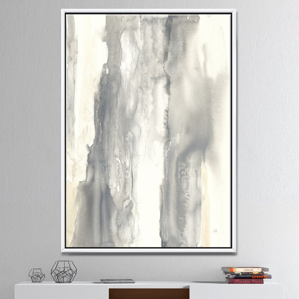 Gold Glamour Direction I - Modern & Contemporary Framed Canvas