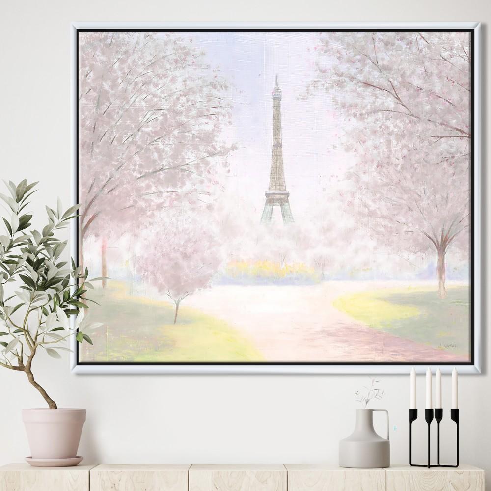 Pretty Paris - Landscape Framed Canvas