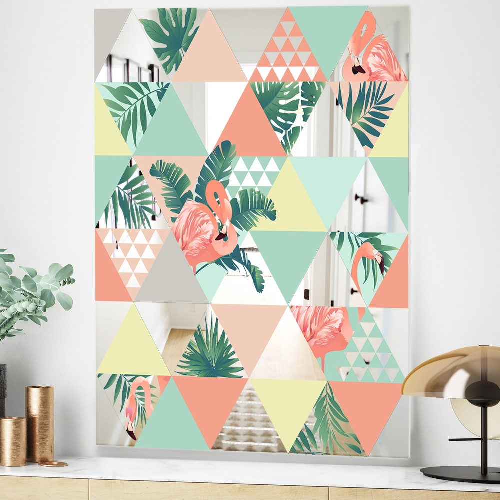 Tropical Mood Pink 2 - Mid Century Modern Mirror