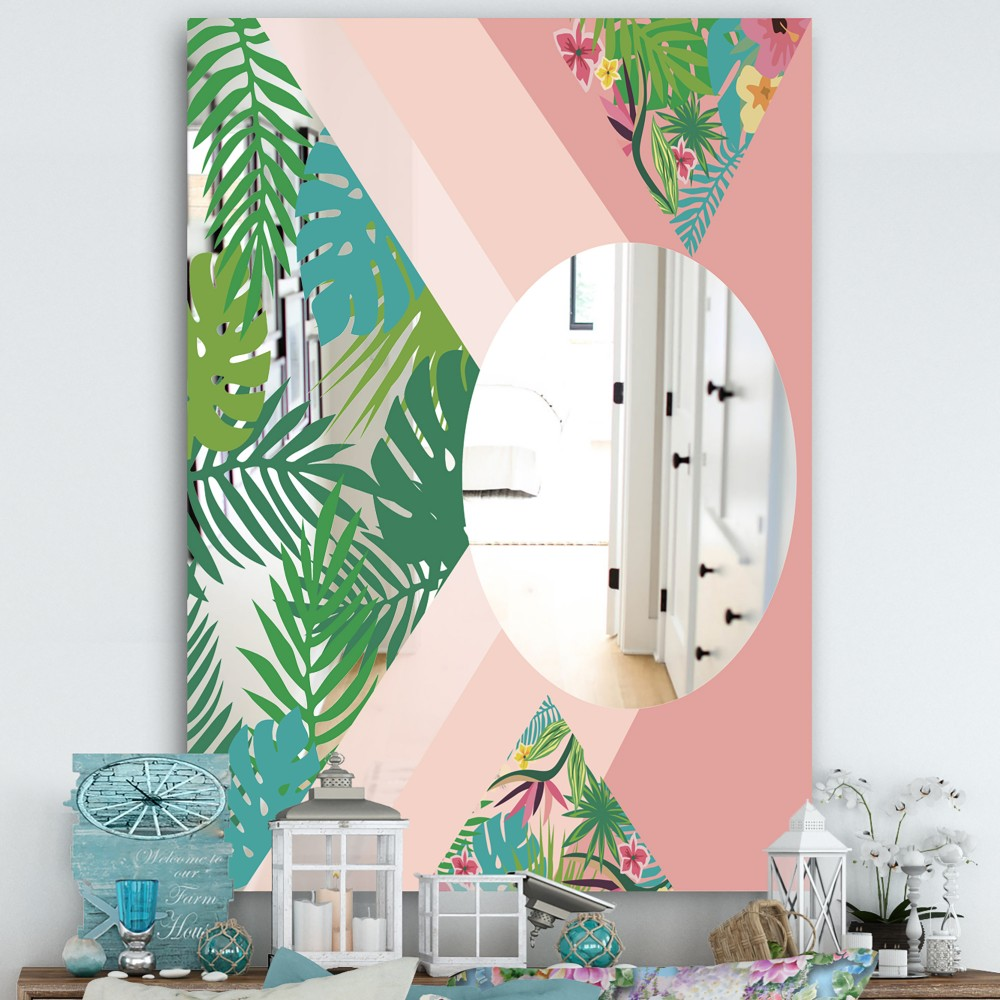 Tropical Mood Pink 3 - Cottage Mirror